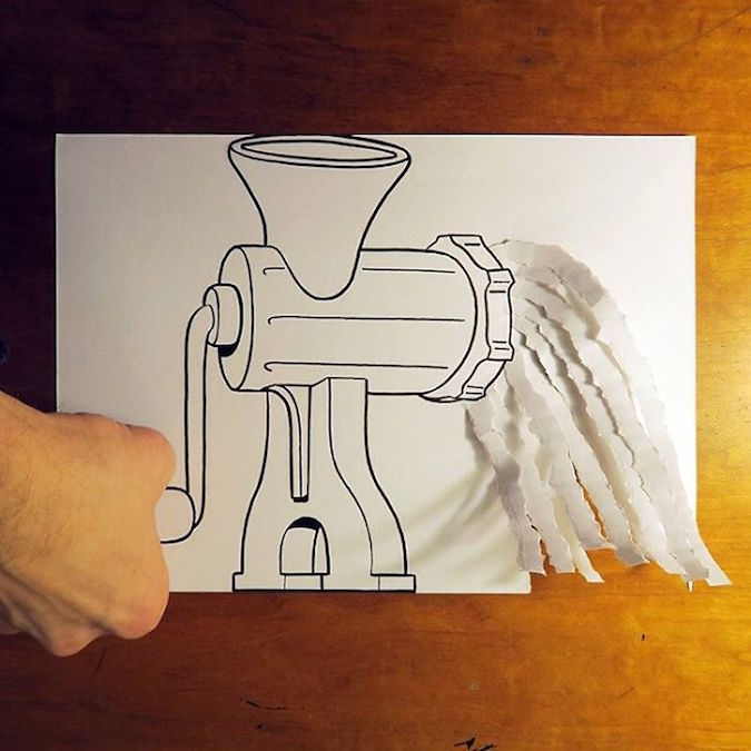 3D paper folding art and drawings by HuskMitNavn - 30