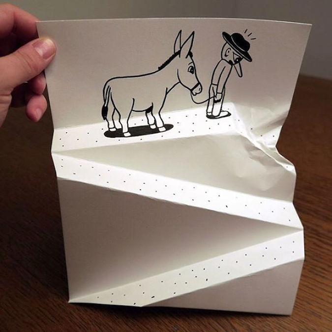3D paper folding art and drawings by HuskMitNavn - 37 width=