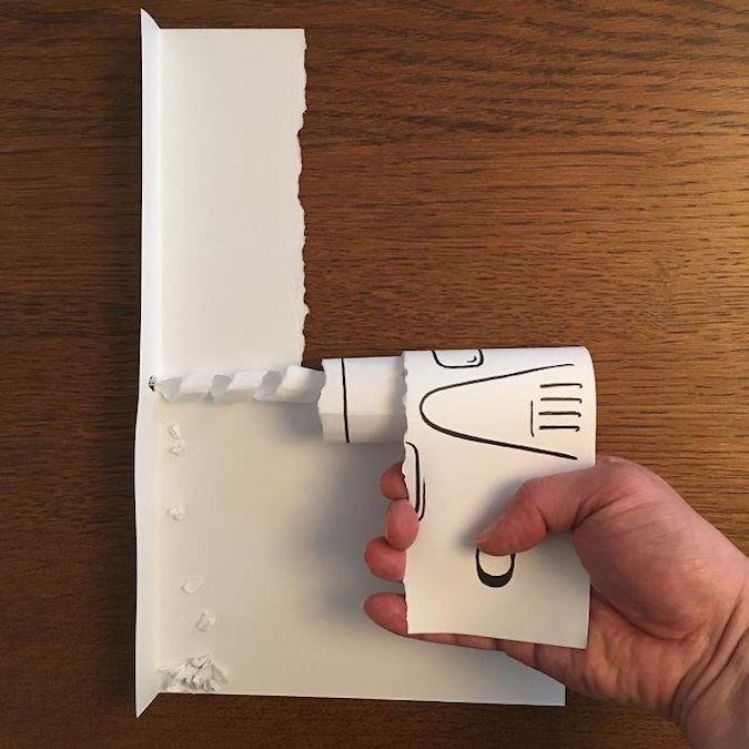3D paper folding art and drawings by HuskMitNavn - 44