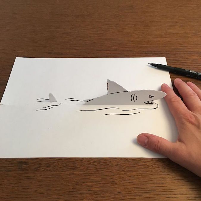 3D paper folding art and drawings by HuskMitNavn - 45