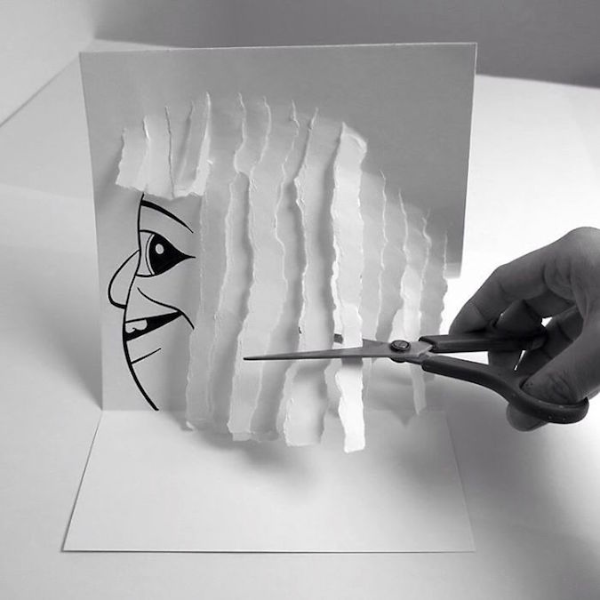 3D paper folding art and drawings by HuskMitNavn - 46