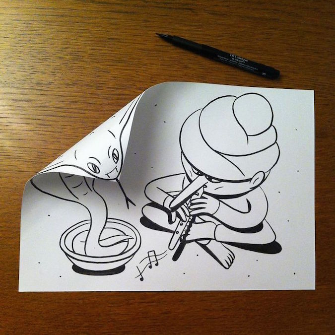 3D paper folding art and drawings by HuskMitNavn - 51