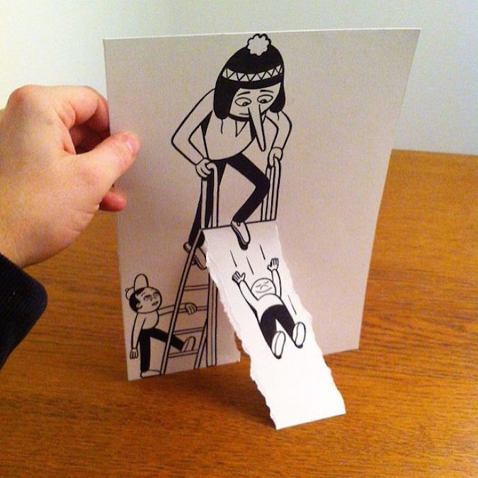 3D paper folding art and drawings by HuskMitNavn - 53