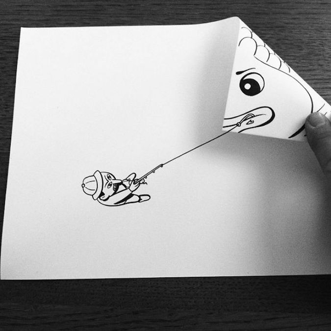 3D paper folding art and drawings by HuskMitNavn - 54
