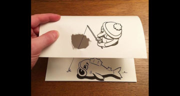 Artist Brings His Drawings To Life Using Simple Paper Folds