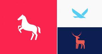 Designer Creates Clean, Minimalist Animal Logos And Shares His Design Process