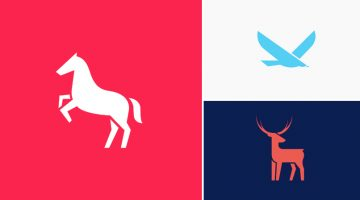 Designer Creates Clean, Minimalist Animal Logos And Shares His Design Process