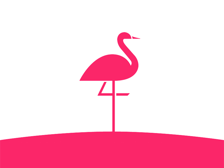 Animal Logo - Flamingo