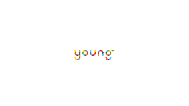 Logos of common english adjectives - Young