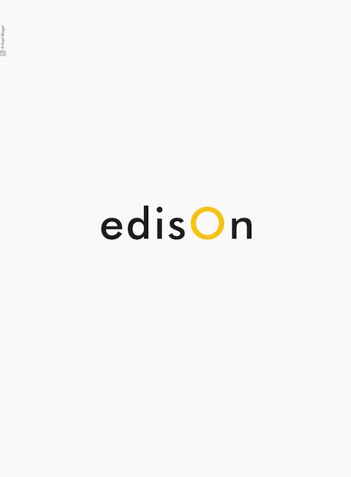 Creative Typographic Science Posters - Edison