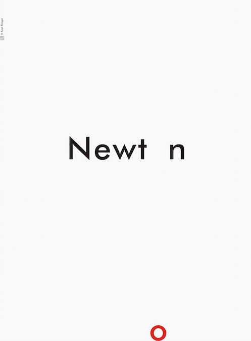 Creative Typographic Science Posters - Newton