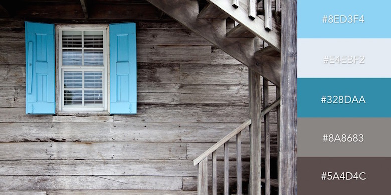 Beautiful color combinations, schemes and palettes - Blue Accent