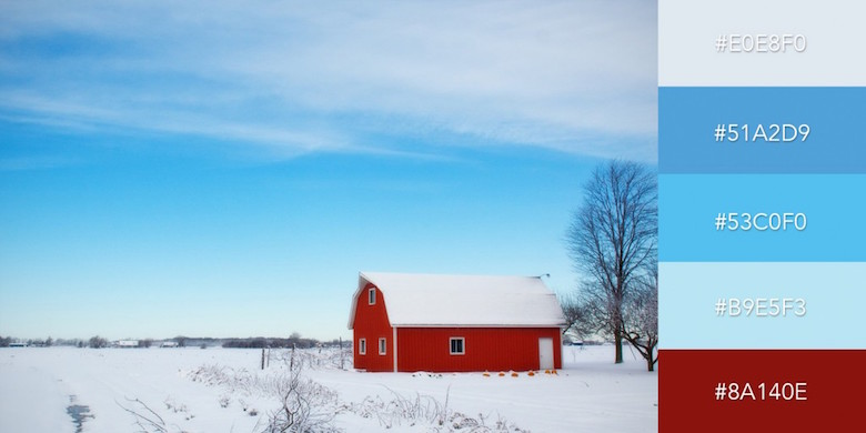 Beautiful color combinations, schemes and palettes - Winter Barn