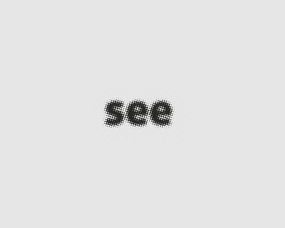 Logos of common english verbs - See