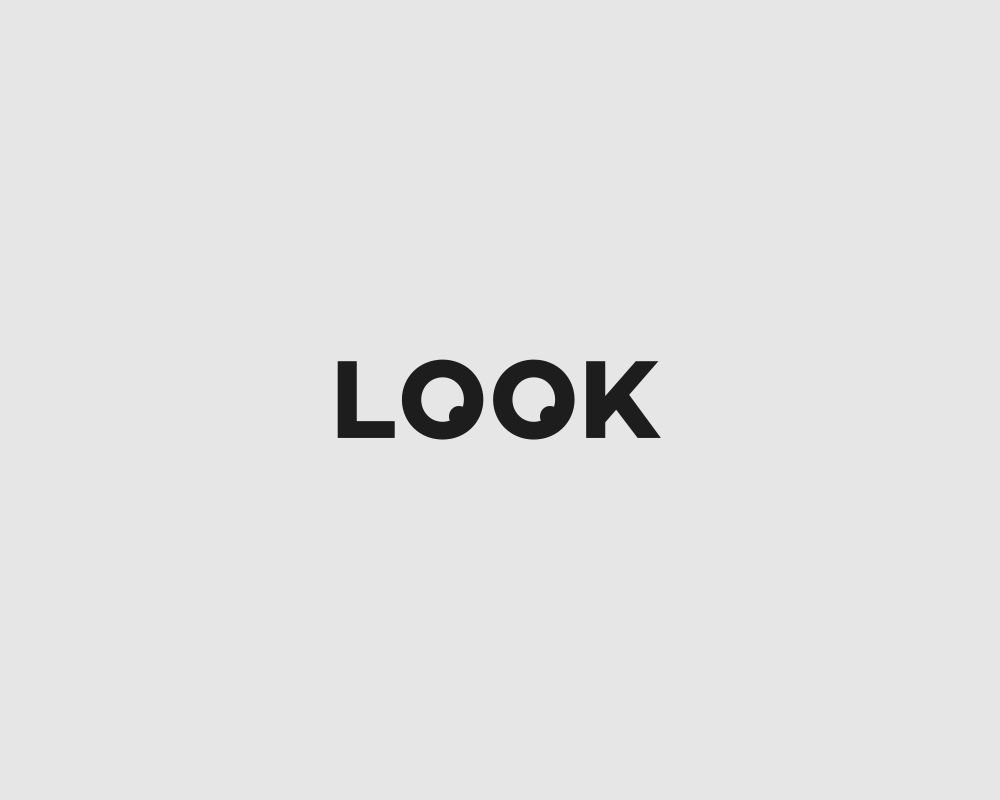 Logos of common english verbs - Look