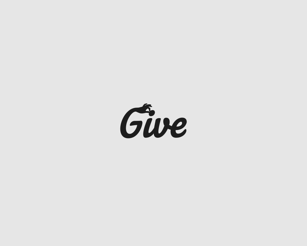 Logos of common english verbs - Give