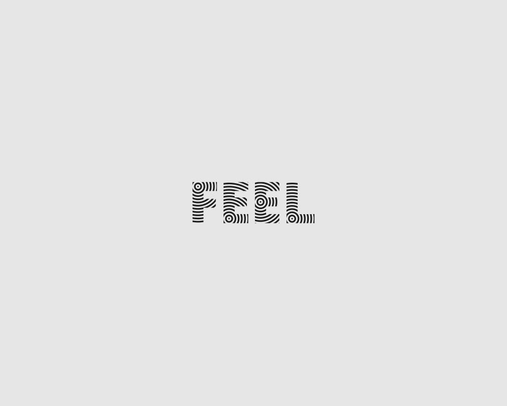 Logos of common english verbs - Feel