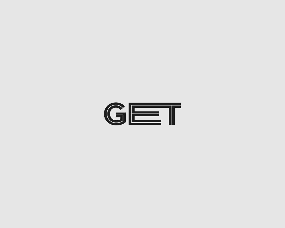 Logos of common english verbs - Get