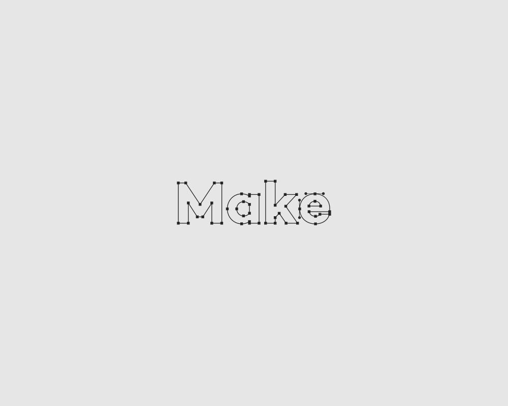 Logos of common english verbs - Make
