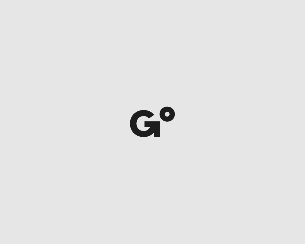 Logos of common english verbs - Go