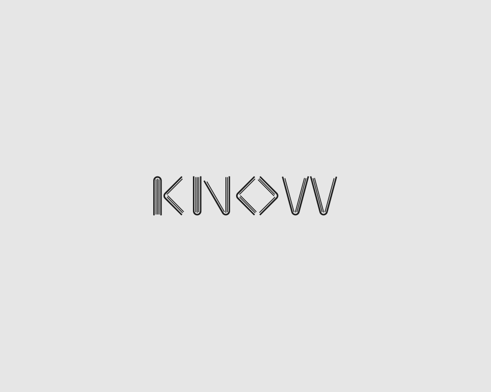 Logos of common english verbs - Know