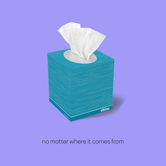 Creative Print Ads, 365 Day Copywriting Challenge - Kleenex