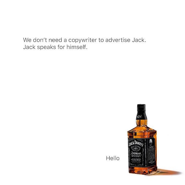 Creative Print Ads, 365 Day Copywriting Challenge - Jack Daniel's
