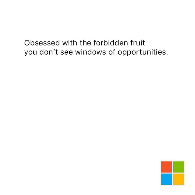 Creative Print Ads, 365 Day Copywriting Challenge - Microsoft