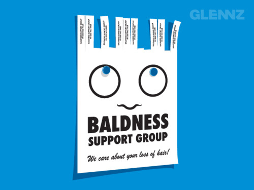 Clever Tear-Off Ads - Baldness Support Group