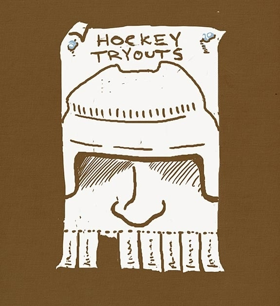 Clever Tear-Off Ads - Hockey Tryouts