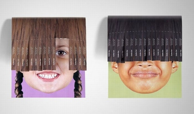Clever Tear-Off Ads - Cuttie Cut: Children's Hair Salon
