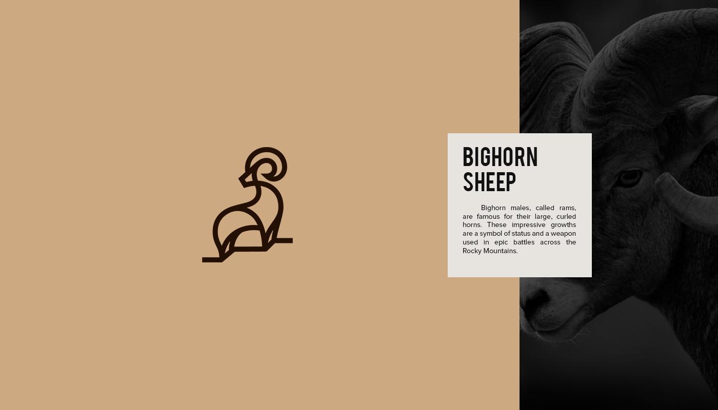 designers create series of beautiful animal logos to raise awareness for endangered species