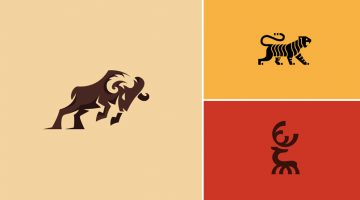 "Designers Create Series Of Beautiful Animal <span class=""search-everything-highlight-color"" style=""background-color:orange"">Logos</span> To Raise Awareness For Endangered Species"