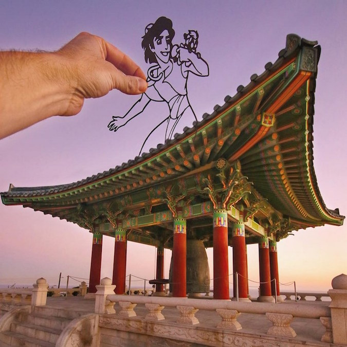 Paper Cutouts On Famous Landmarks - 17