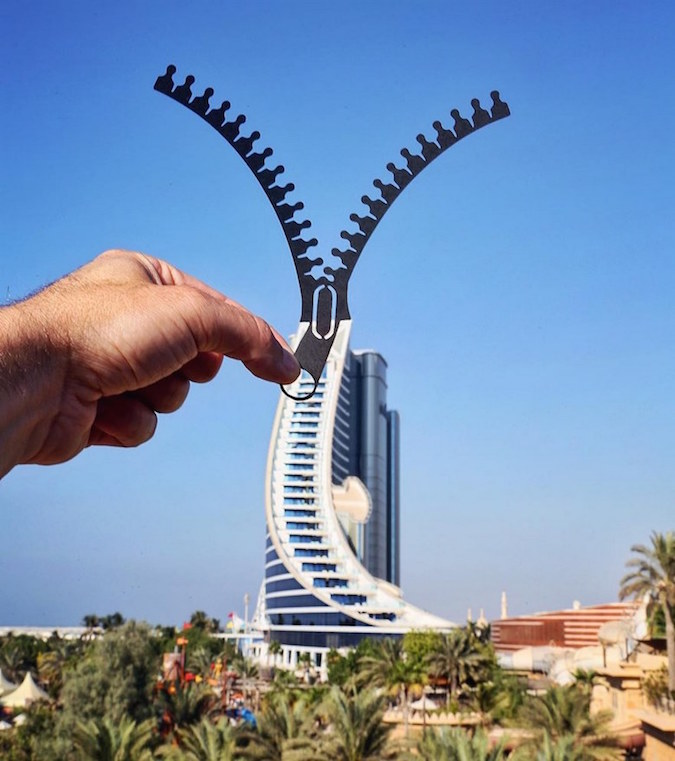 Paper Cutouts On Famous Landmarks - 18