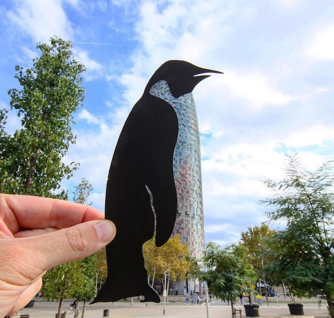 Paper Cutouts On Famous Landmarks - 21