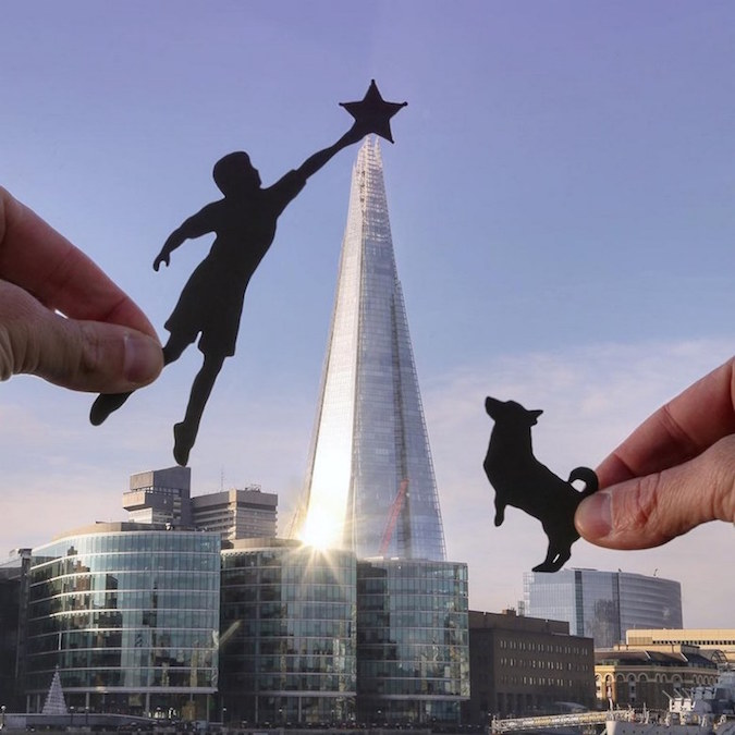 Paper Cutouts On Famous Landmarks - 26
