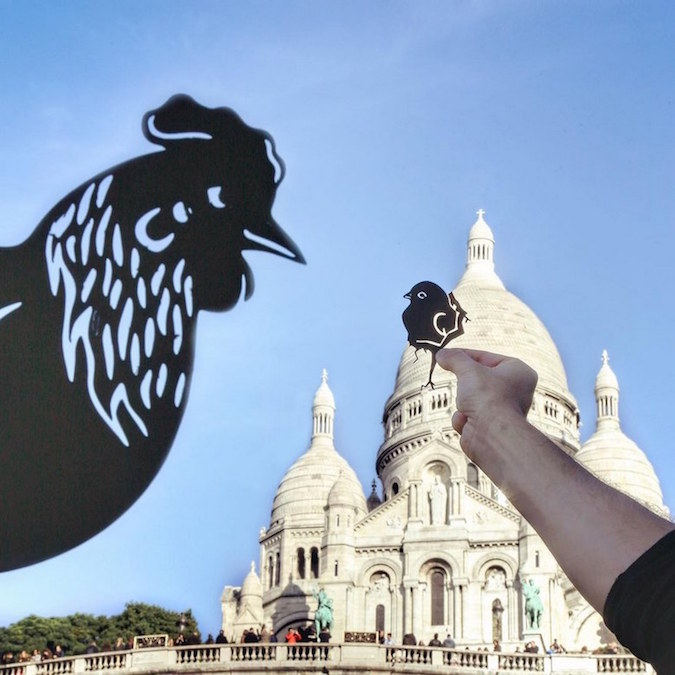 Paper Cutouts On Famous Landmarks - 28