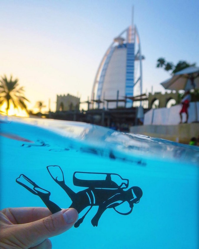 Paper Cutouts On Famous Landmarks - 29