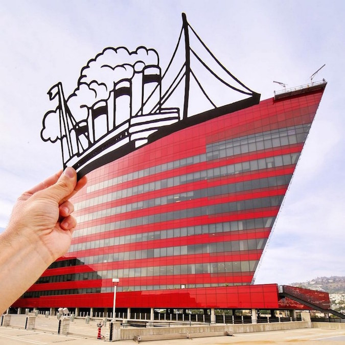 Paper Cutouts On Famous Landmarks - 34