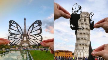 Photographer Uses Paper Cut-Outs To Transform Famous Landmarks Into Something Else