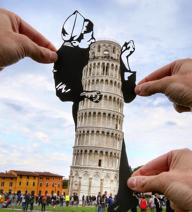 Paper Cutouts On Famous Landmarks - 4