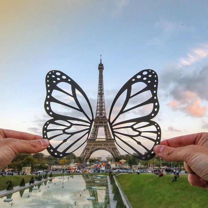 Paper Cutouts On Famous Landmarks - 6