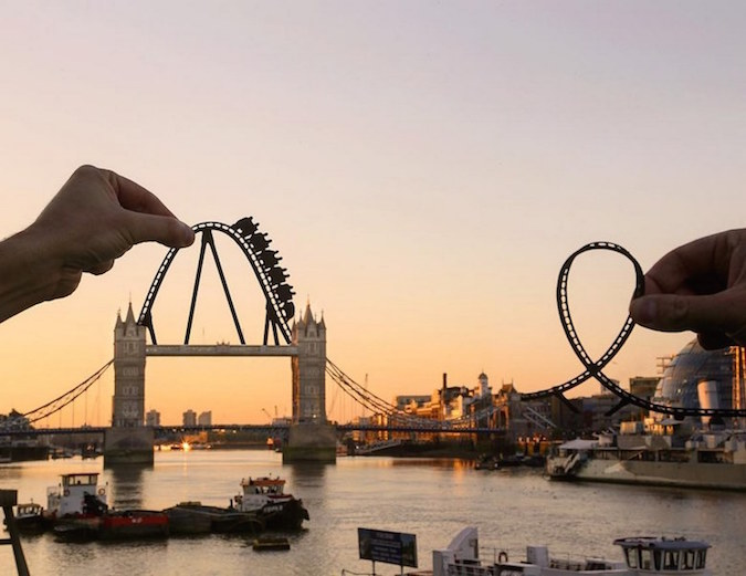Paper Cutouts On Famous Landmarks - 7