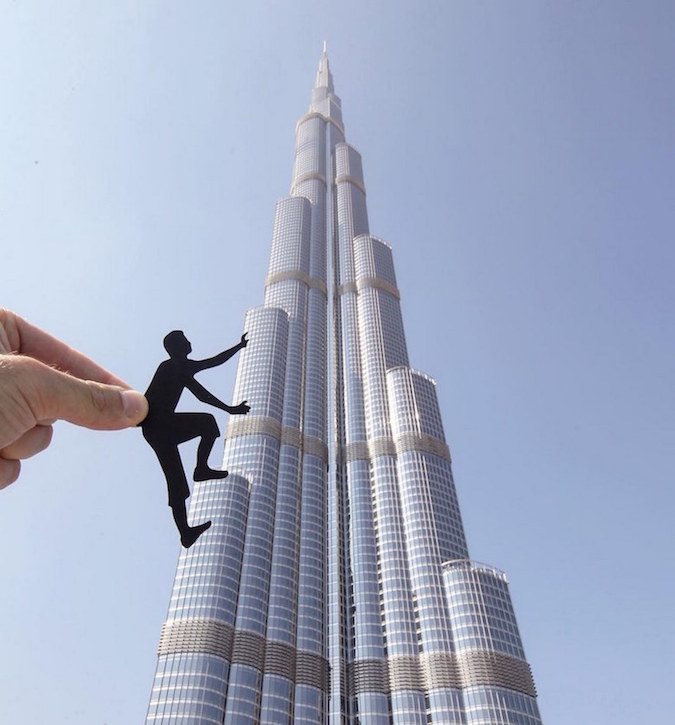 Paper Cutouts On Famous Landmarks - 9