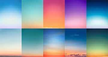 Beautiful, Minimal Photographs Of Sunsets For Color Inspiration