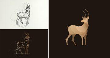 Beautiful, Colorful Animal Logos Based On Circular Geometry