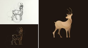 Beautiful, Colorful Animal Logos Based On Circular Geometry
