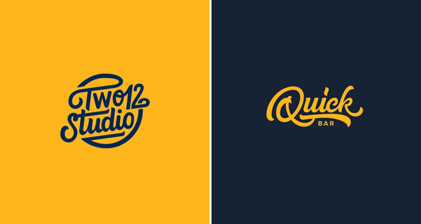 Smooth clean animations of beautiful hand lettered logos Calligraphy logo