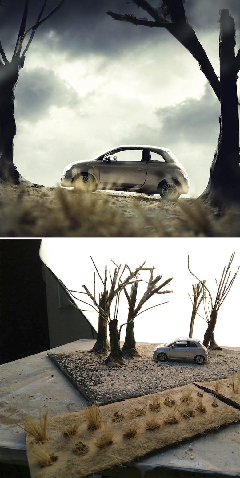 Miniature photography, small-scale landscape models - 3